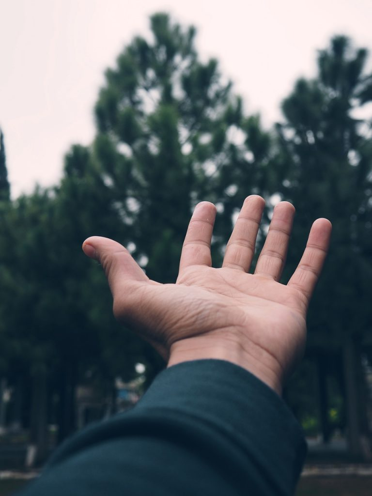 bokeh, hand, earth
